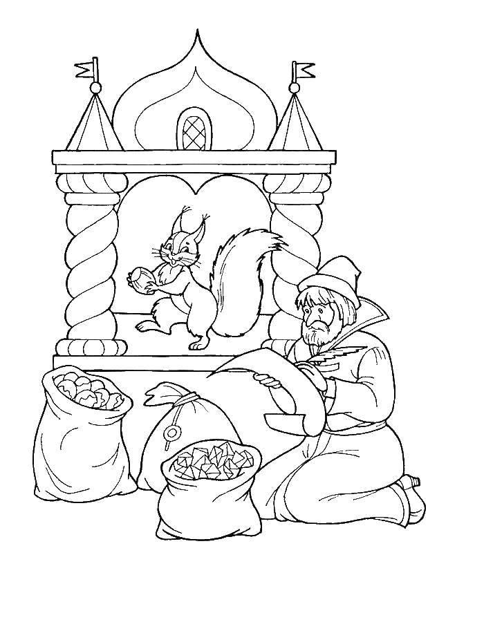 Раскраска Персонажи из сказок Скачать .  Распечатать