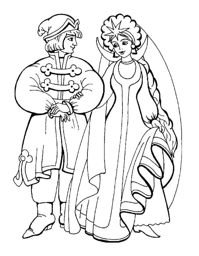 раскраски сказка раскраска сказка о царе салтане сказки