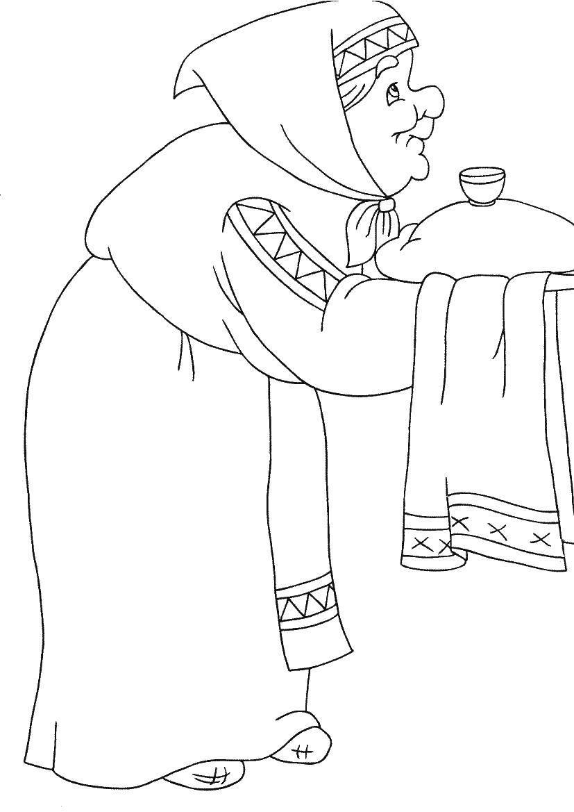 Раскраска Сказка, алёшка попович Скачать Богатырь, Алёша Попович.  Распечатать ,три богатыря,