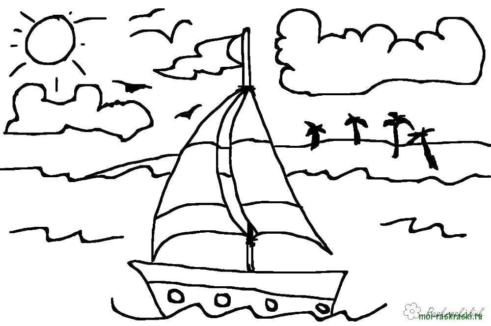 Раскраска море Скачать снеговик Олаф, холодное сердце.  Распечатать ,Персонаж из мультфильма,