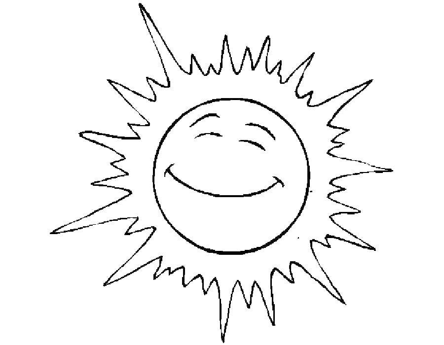 Раскраска погода Скачать ,улыбка,солнце,.  Распечатать