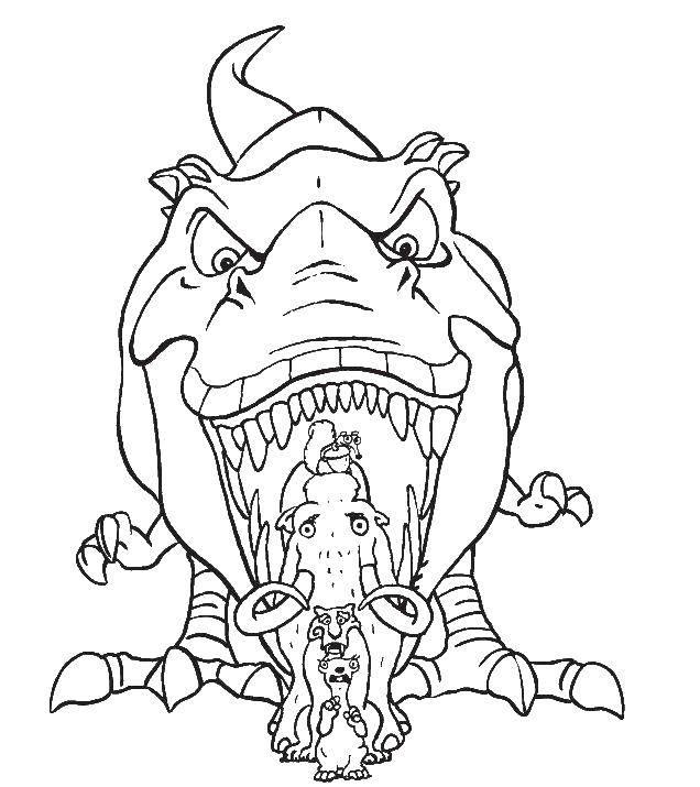 """Раскраска Персонаж из мультфильма ледниковый период Скачать Персонаж из мультфильма, """"Ледниковый период"""".  Распечатать ,Персонаж из мультфильма,"""