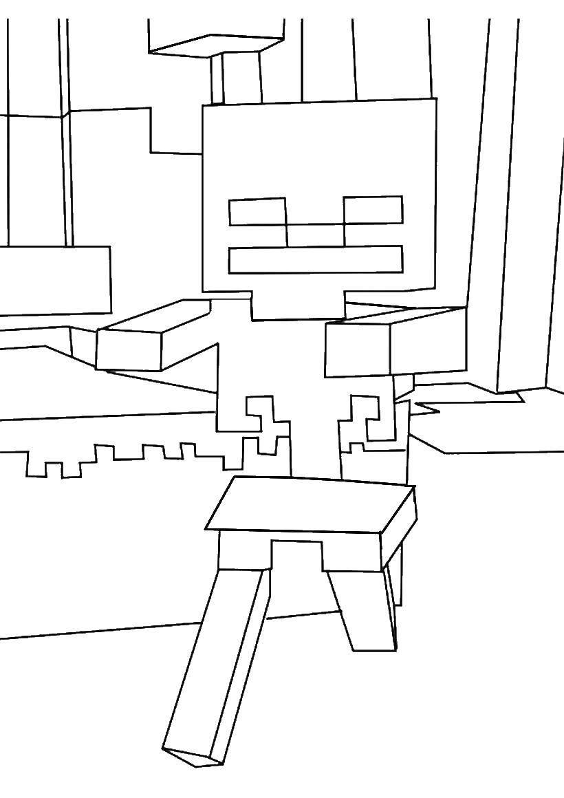 Раскраска Майнкрафт Скачать Игры, Майнкрафт.  Распечатать ,игры,