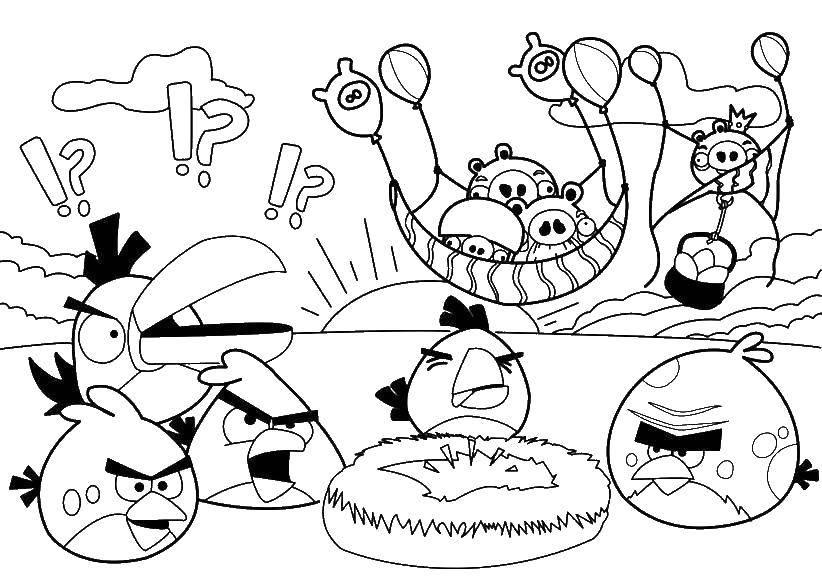 """Раскраска Мир angry birds Скачать Игры, """"Angry Birds"""".  Распечатать ,игры,"""