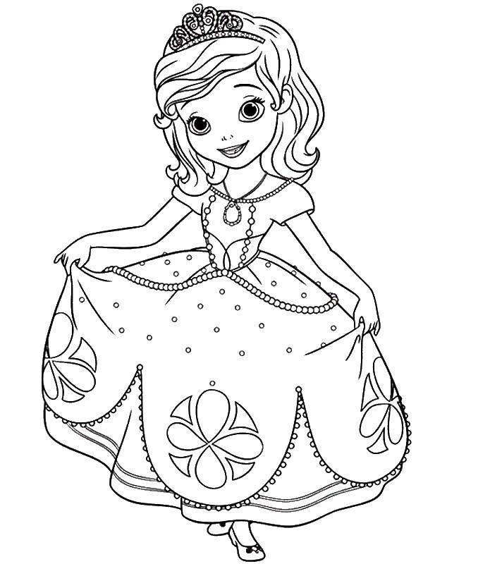 Раскраска Принцесса Скачать Принцесса, замок.  Распечатать ,Принцессы,