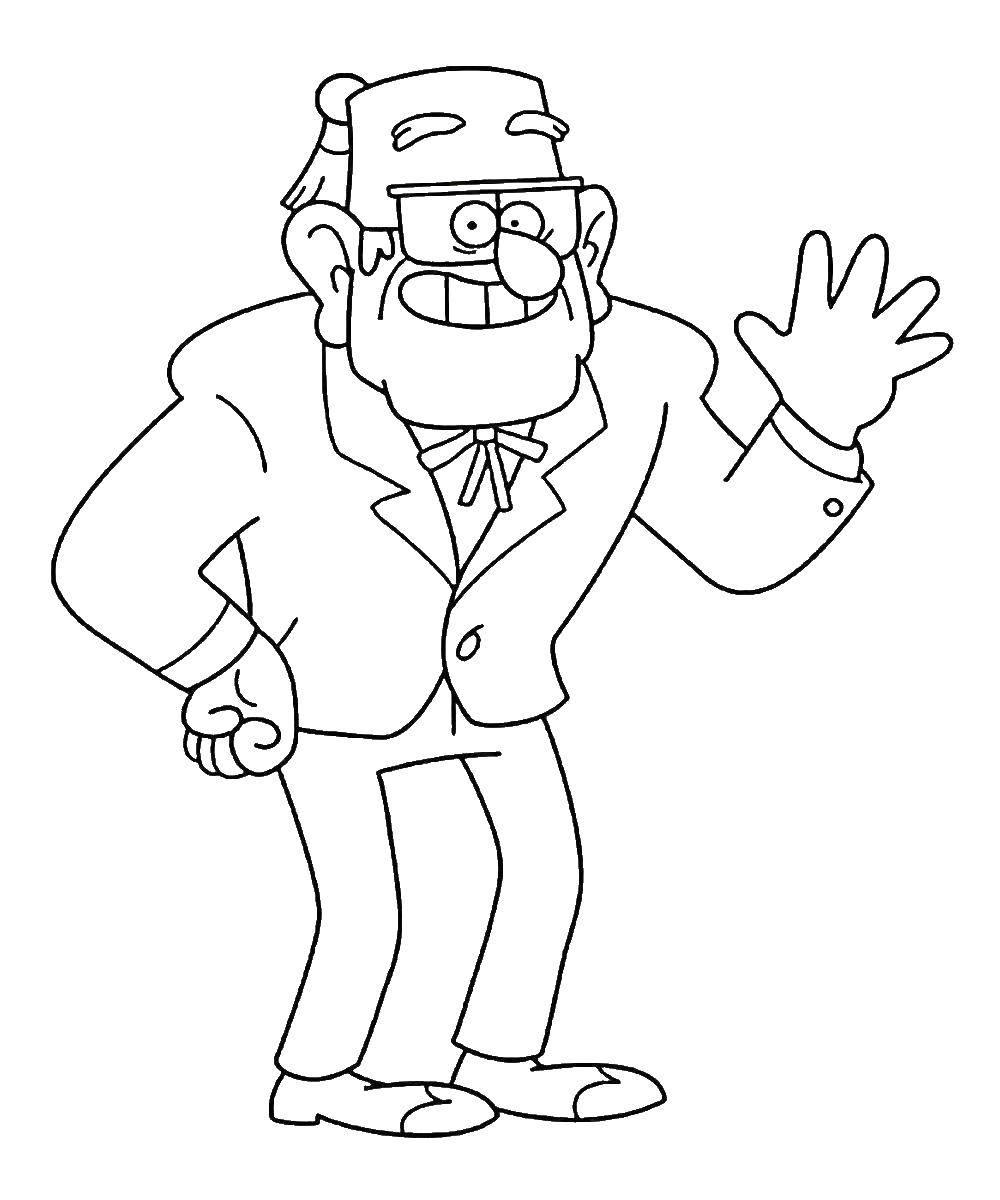 Раскраска Персонаж из мультфильма Скачать ,Рептилия, ящерица,.  Распечатать