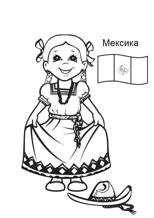 Раскраска Мексика Скачать Мексика.  Распечатать ,Культура разных государств мира,