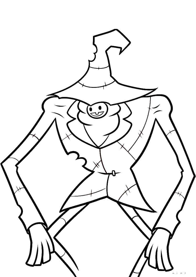 Раскраска Персонаж из мультфильма гравити фолз Скачать Персонаж из мультфильма.  Распечатать ,гравити фолз,
