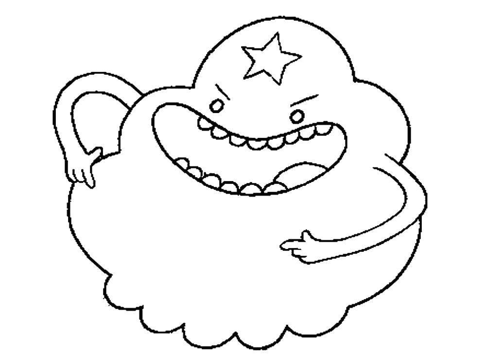 Раскраска Время Приключений Скачать Персонаж из мультфильма, Бен Тен.  Распечатать ,Персонаж из мультфильма,