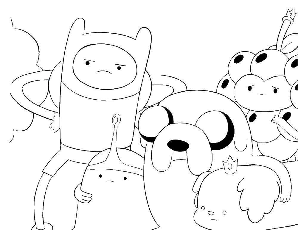 раскраски время раскраска персонаж из мультфильма время