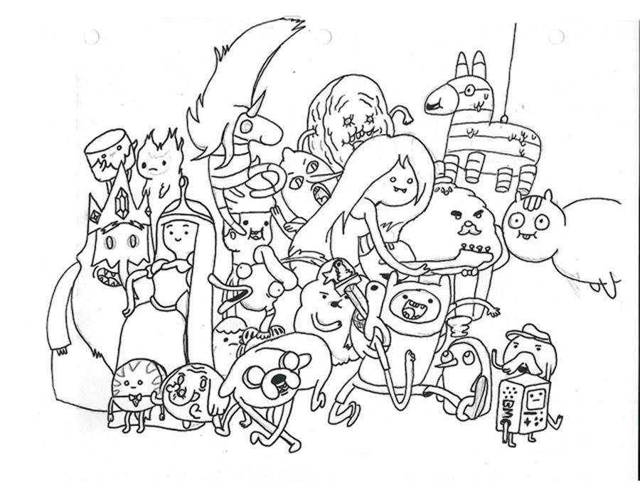 """Раскраска Персонаж из мультфильма время приключений Скачать Персонаж из мультфильма, """"Время Приключений"""".  Распечатать ,время приключений,"""