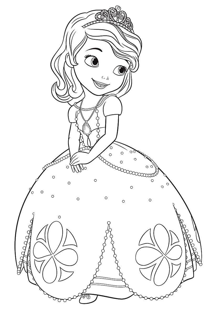 Раскраска Золушка в бальном плати Скачать бальное платья, золушка.  Распечатать ,бальные платья,