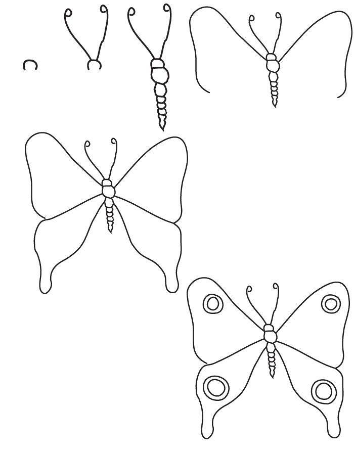 Раскраска как нарисовать поэтапно животных Скачать ,квадрат, круг, треугольник,.  Распечатать