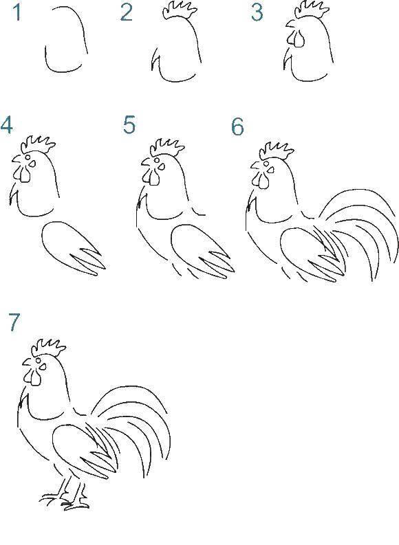 Раскраска как нарисовать поэтапно животных Скачать ,по номерам, по цифрам, кирби,.  Распечатать