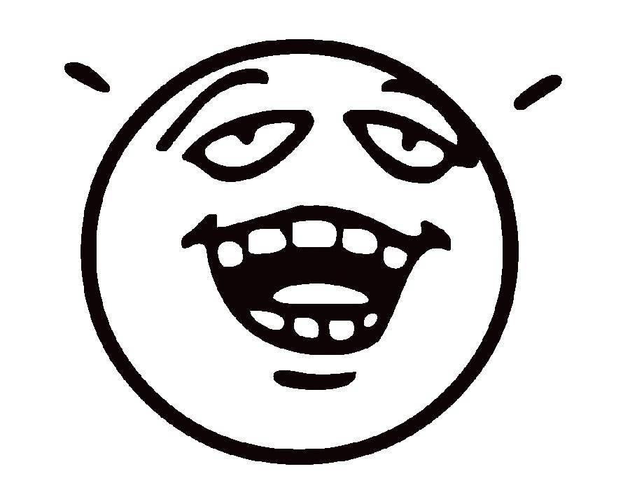 Раскраска Говорящий смайлик Скачать Смайлик, эмоция.  Распечатать ,смайлики,