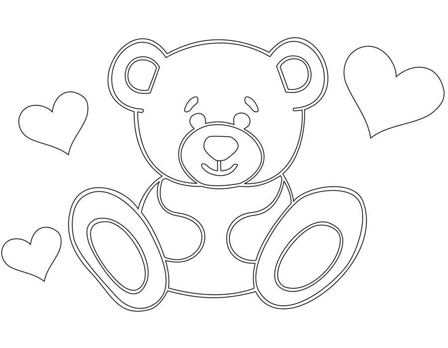 Раскраска Мишутка Скачать Игрушка, медведь.  Распечатать ,игрушка,
