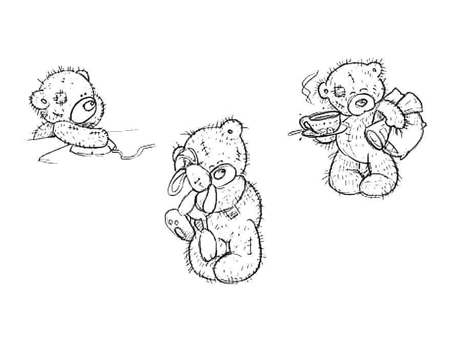 Раскраска Мишутки тедди Скачать Мишка Тедди.  Распечатать ,мишки тедди,