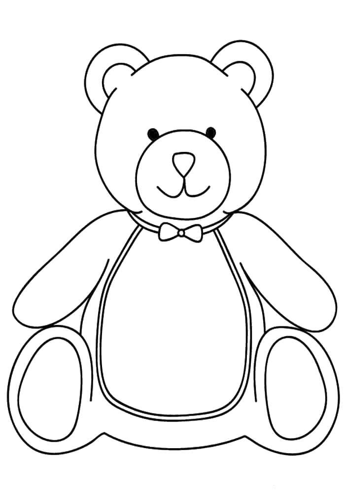 Раскраска Плюшевый медведь. Скачать Игрушка, медведь.  Распечатать ,игрушки,