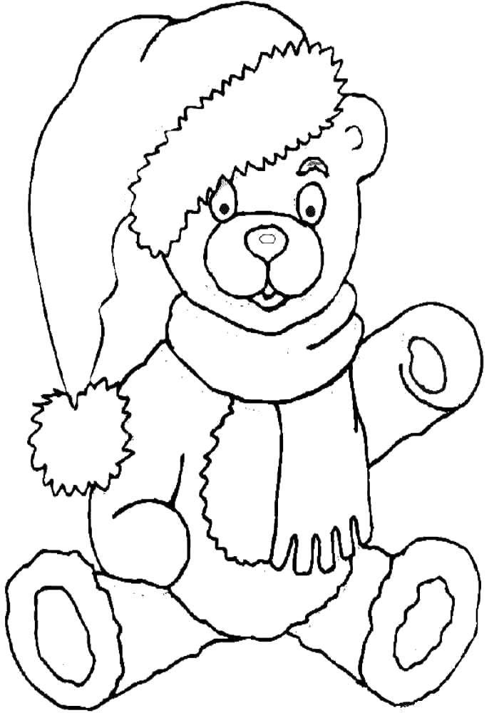 Раскраска Плюшевый мишка. Скачать Игрушка, медведь.  Распечатать ,игрушки,