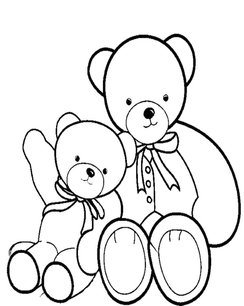Раскраска Мишутки Скачать Игрушка, медведь.  Распечатать ,игрушки,
