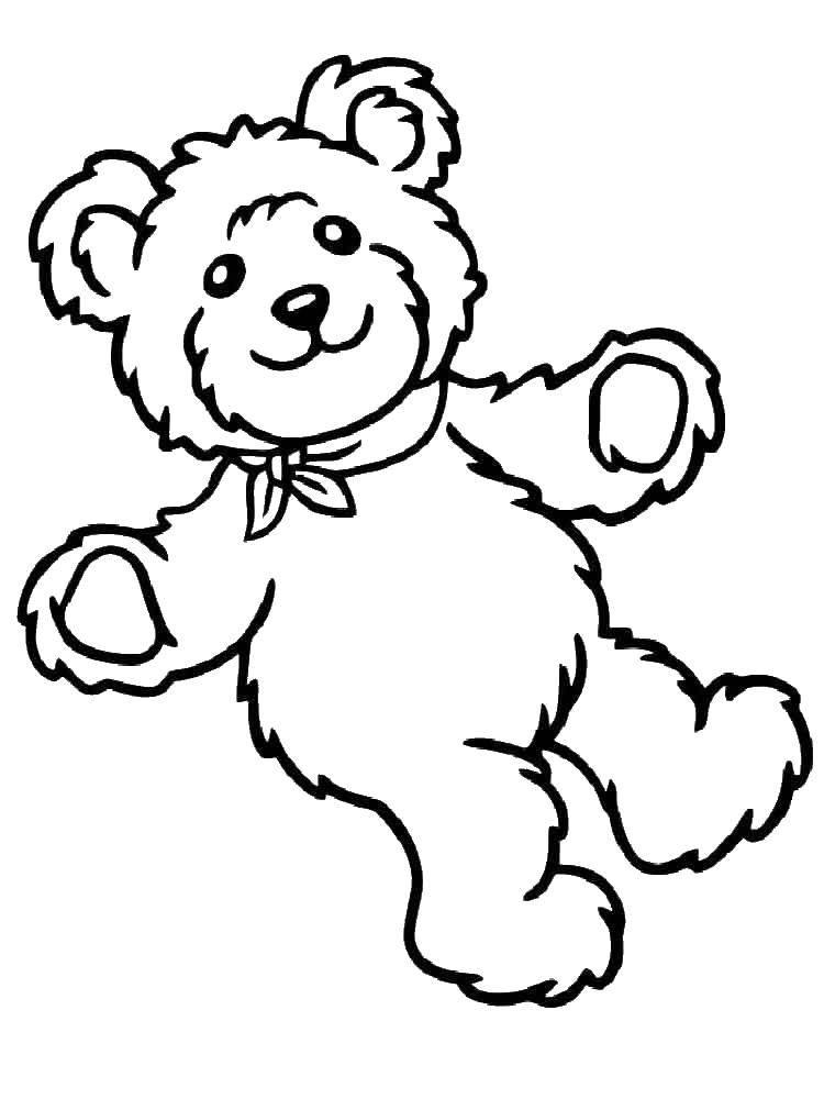 Раскраска Плюшевый мишка. Скачать Игрушка, медведь.  Распечатать ,игрушка,