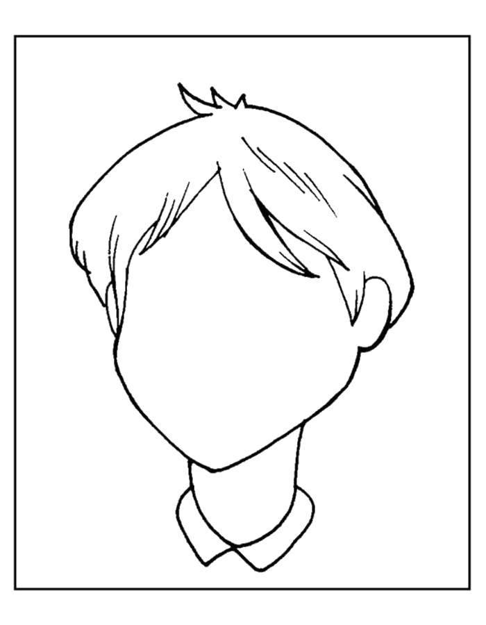 Раскраска Необходимо нарисовать лицо Скачать Образец, обвести по контуру.  Распечатать ,дорисуй по образцу,