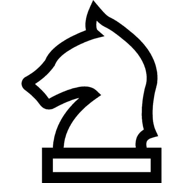 Раскраска Контур коня Скачать Контур, лошадь.  Распечатать ,контуры лошади,