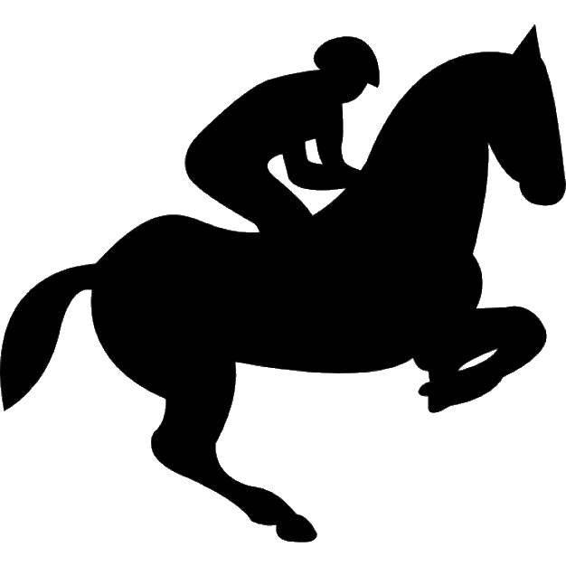 Раскраска контуры лошади Скачать ,девушка, масленица, люди,.  Распечатать