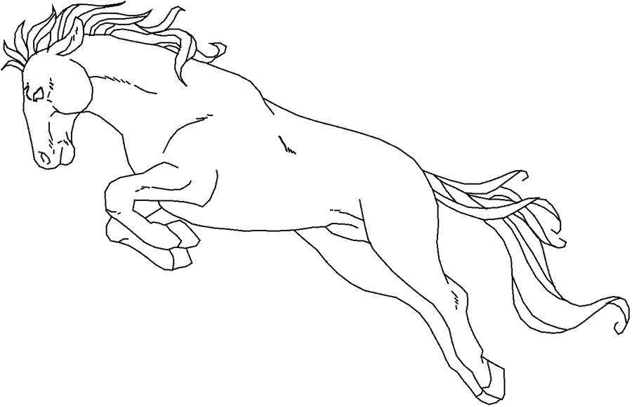 Раскраска Могучий скакун Скачать Животные, лошадь.  Распечатать ,Животные,