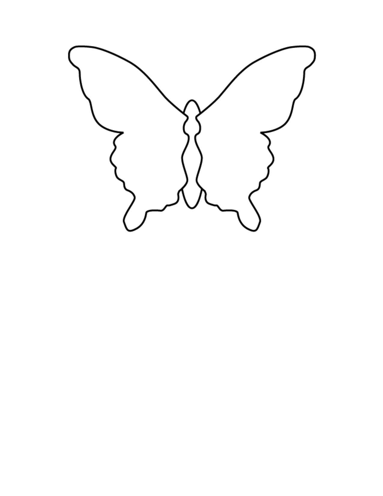 Название: Раскраска Контур бабочки. Категория: контуры для вырезания бабочек. Теги: Контур, бабочка.