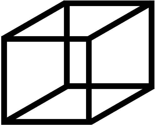 Раскраска Фигура куб Скачать ,куб,.  Распечатать
