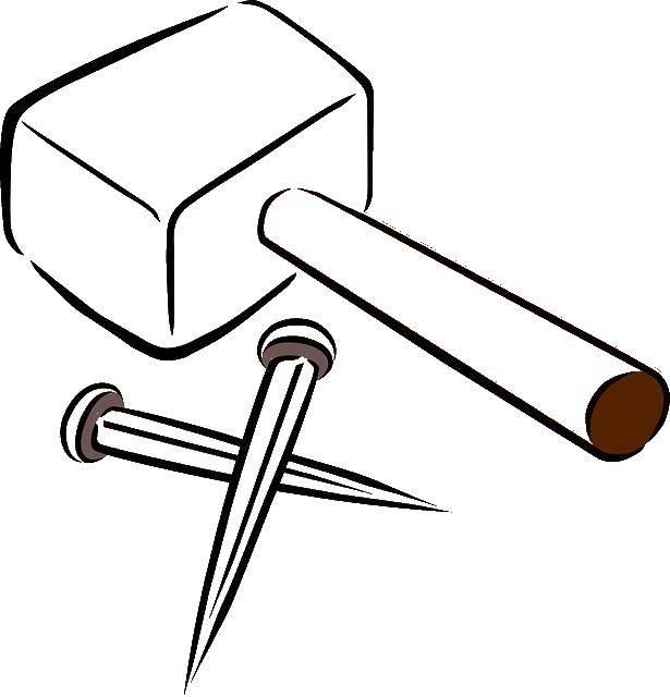 Раскраска Молот и пики Скачать инструменты, молот, пика.  Распечатать ,инструменты,