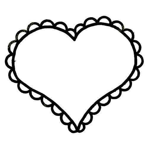 Раскраска Сердечко для вырезания Скачать сердце.  Распечатать ,Сердечки,