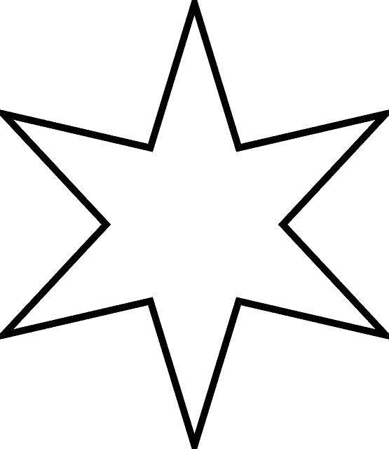 Раскраска Звезда шестиконечная Скачать ,звезда,.  Распечатать