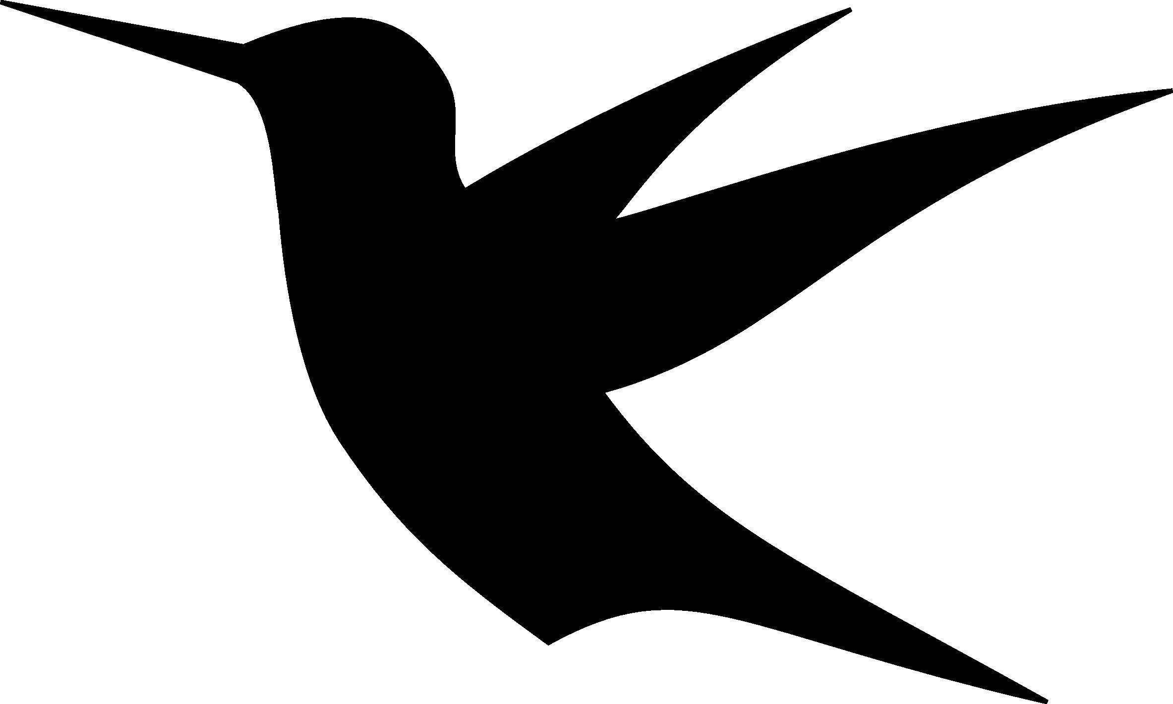 Раскраска Силуэт ласточки или колибри Скачать ласточка.  Распечатать ,Контуры птиц,