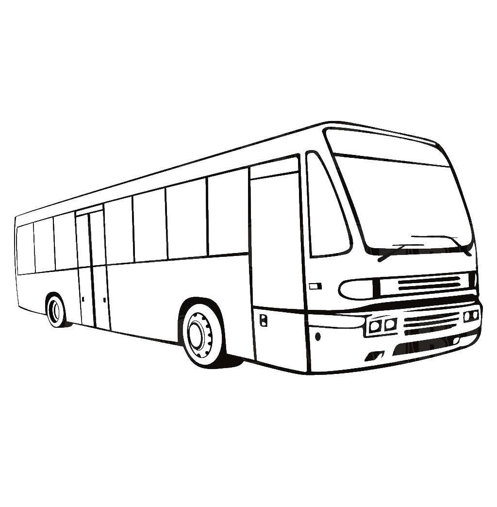 Название: Раскраска Автобус. Категория: машины. Теги: автобус.