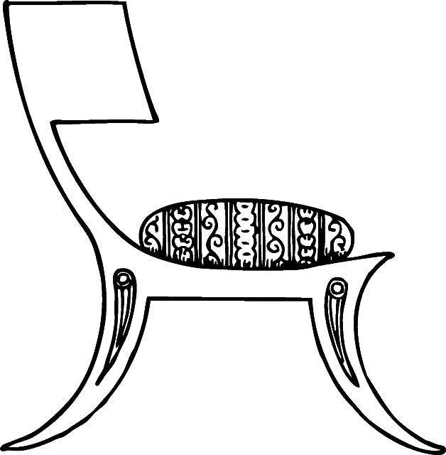 Раскраска Стул Скачать стул.  Распечатать ,мебель,