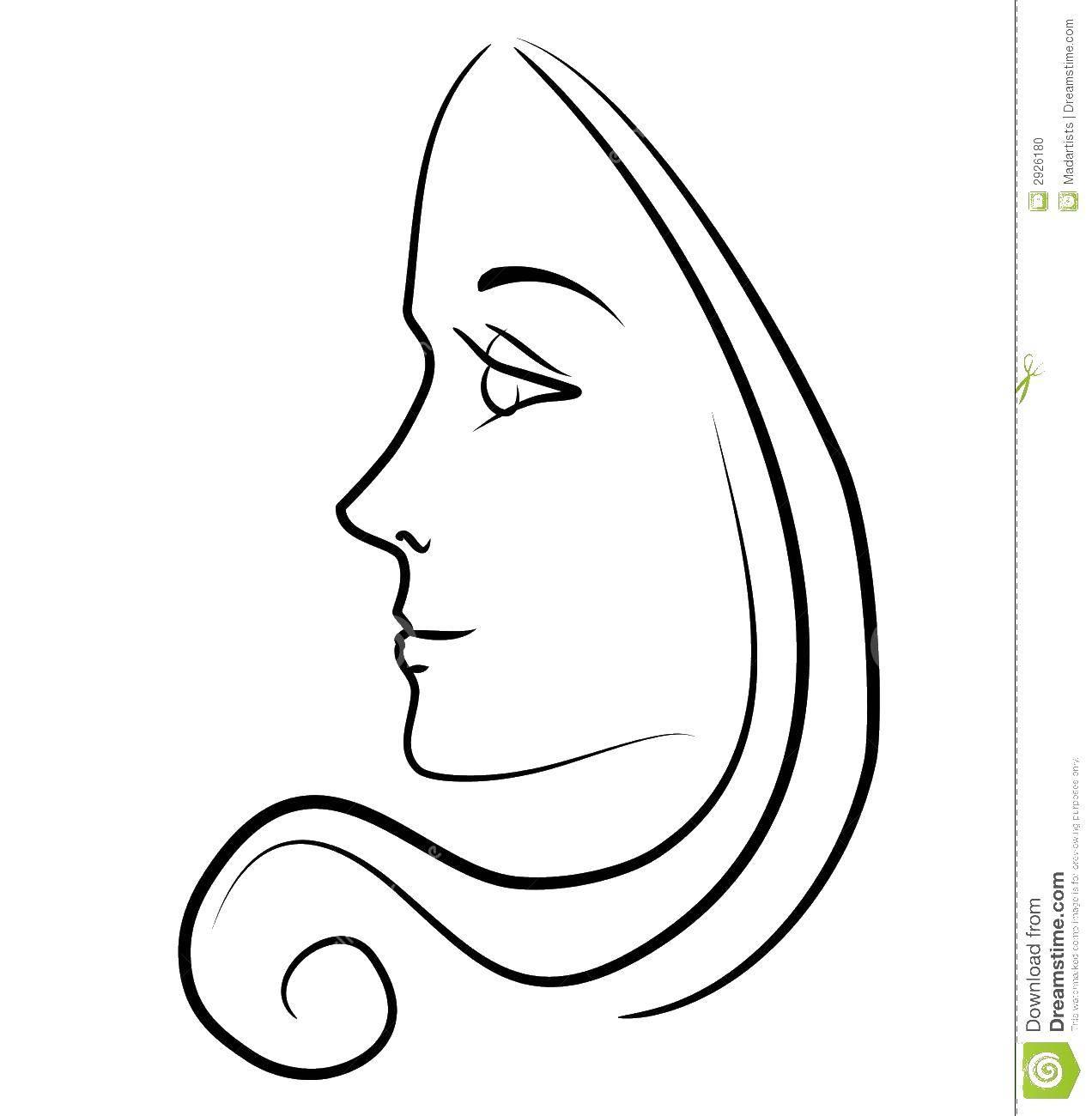 Раскраска Контур девочки Скачать Белоснежка, Жасмин, Золушка, Ариэль.  Распечатать ,Принцессы,