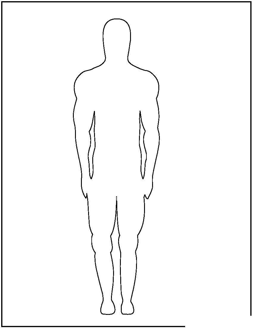 Раскраска Контур мужчины Скачать Контур, мужчина.  Распечатать ,Контур людей,