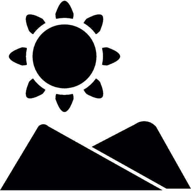 Раскраска Контур солнца Скачать Спорт, гимнастика.  Распечатать ,гимнастика,