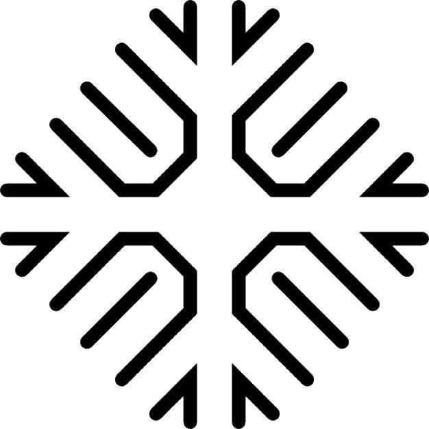 Название: Раскраска Снежинка для вырезания. Категория: Контур снежинки. Теги: снежинка для вырезания.
