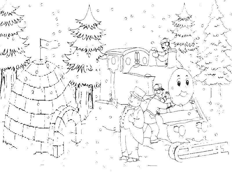 Раскраска Паровозик томас и его друзья Скачать паровоз, Томас.  Распечатать ,мультики,