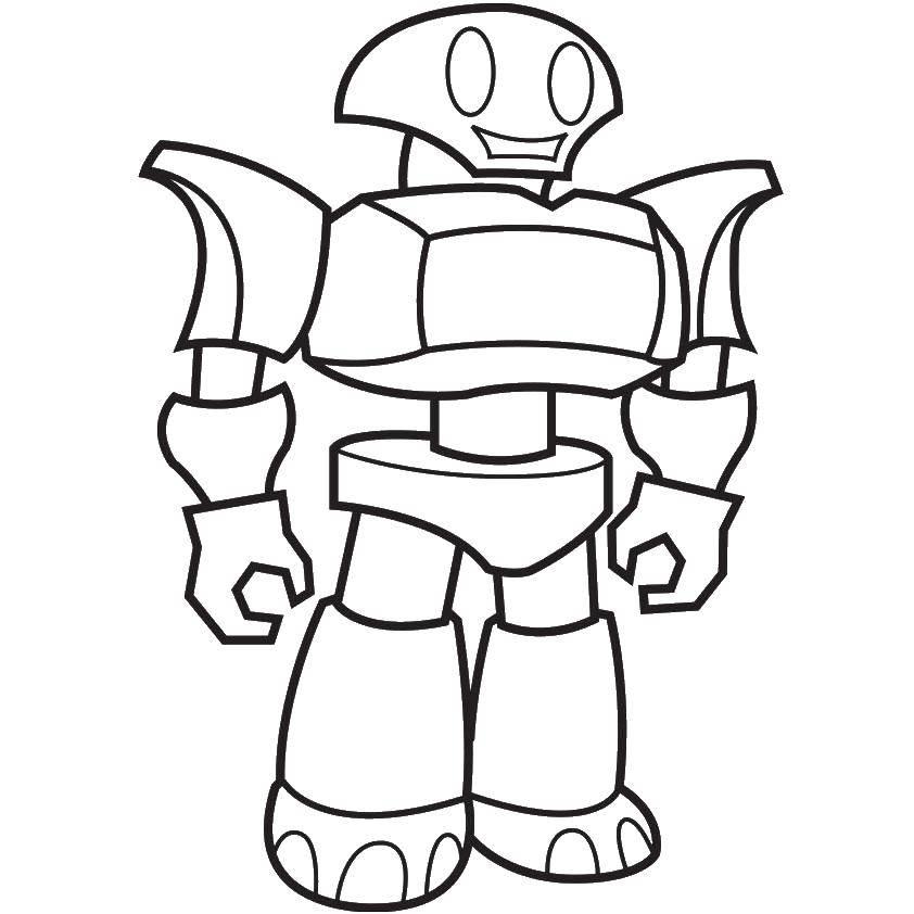 Раскраска Милый робот Скачать Робот.  Распечатать ,робот,