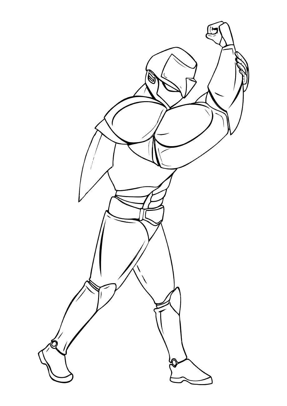 Раскраска Могучий робот Скачать Робот.  Распечатать ,робот,