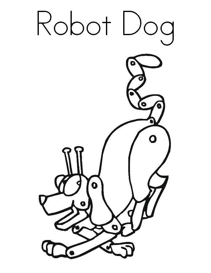 Раскраска Робот собака Скачать Робот, собака.  Распечатать ,робот,