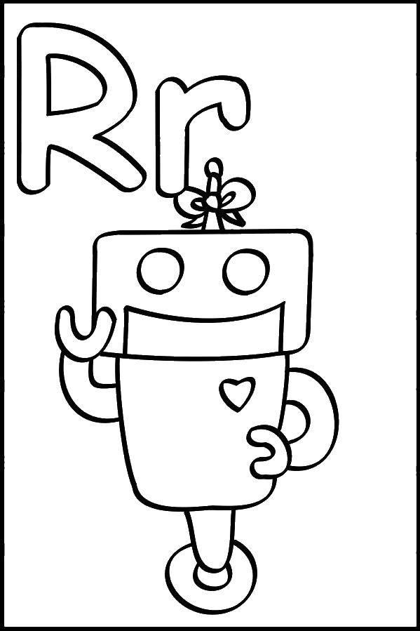 Раскраска Робот Скачать Робот.  Распечатать ,робот,