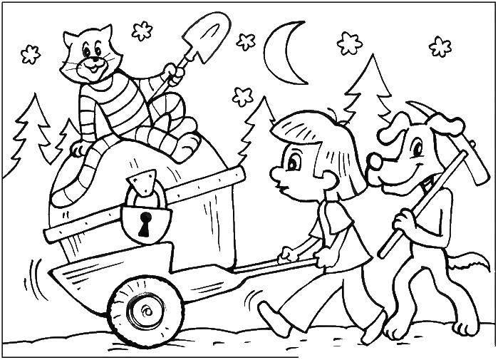 Раскраска раскраски простоквашино Скачать Персонаж из мультфильма.  Распечатать ,гравити фолз,