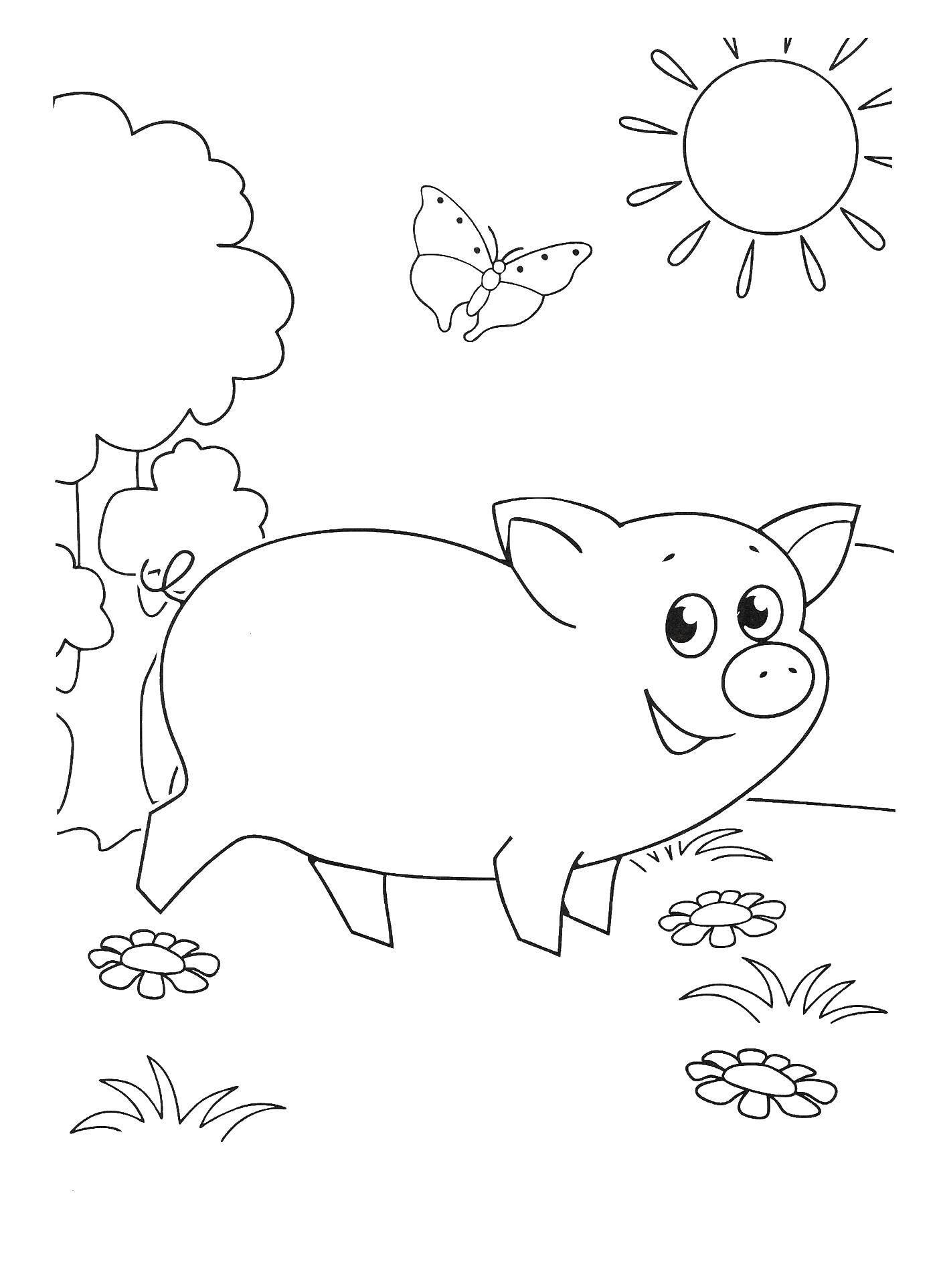 Раскраска Свинка Скачать Свинка.  Распечатать ,раскраски простоквашино,