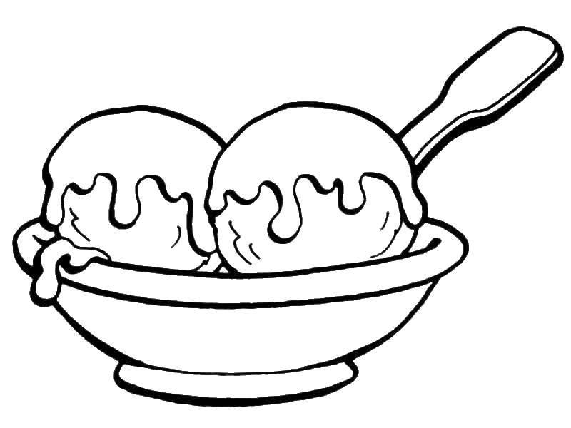 раскраски мороженное раскраска мороженное в шариках еда