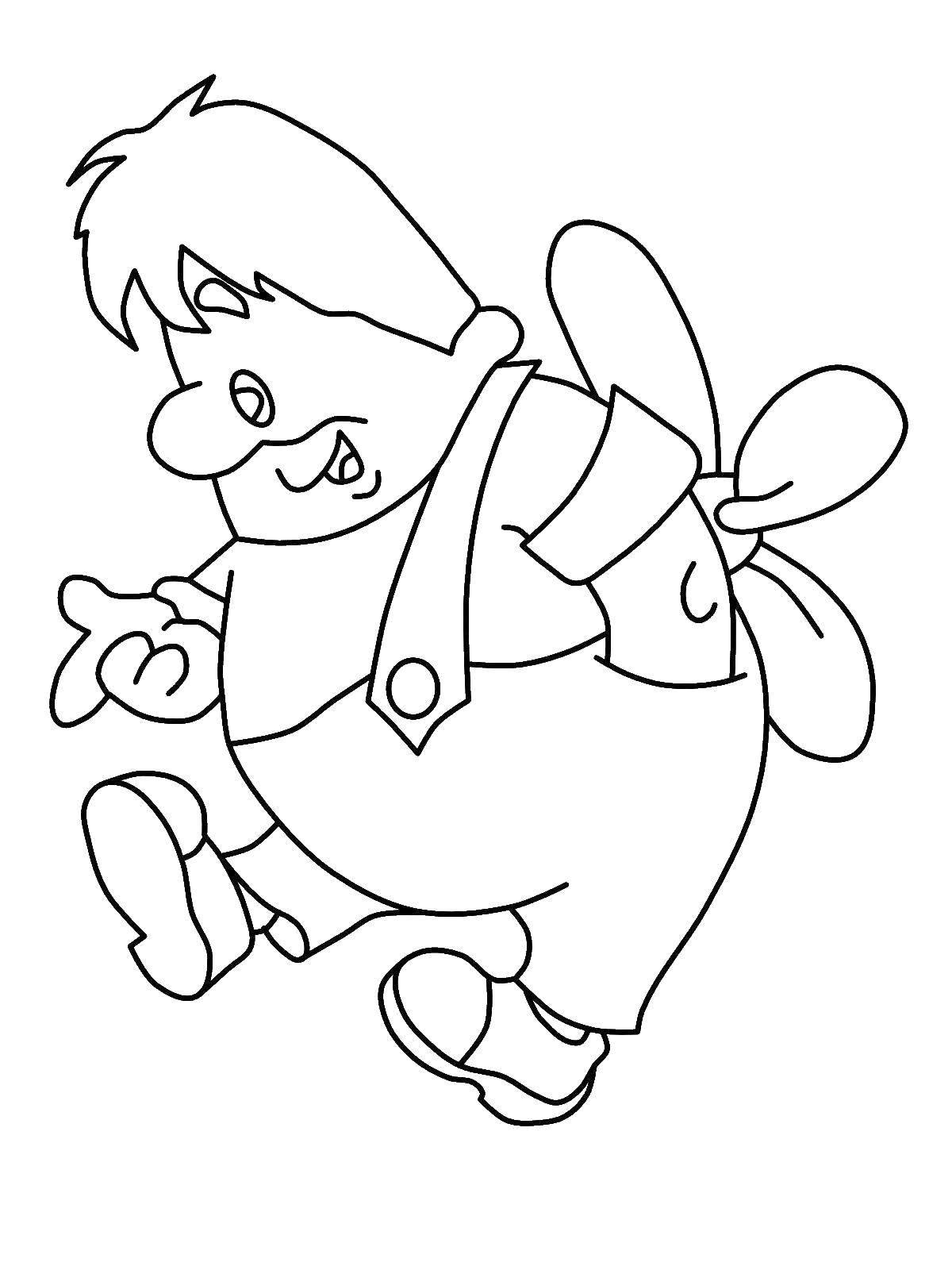 Раскраска Карлсон Скачать Персонаж из мультфильма, Малыш и Карлсон .  Распечатать ,раскраски карлсон,